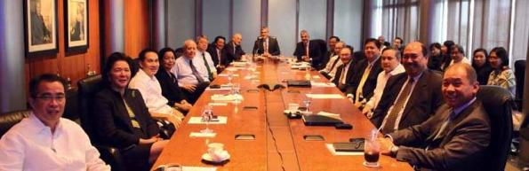 Ayala companies management teams with Ayala Corporation board of directors