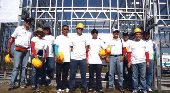 Ayala Group CEOs participate in Habitat for Humanity build in Calauan, Laguna