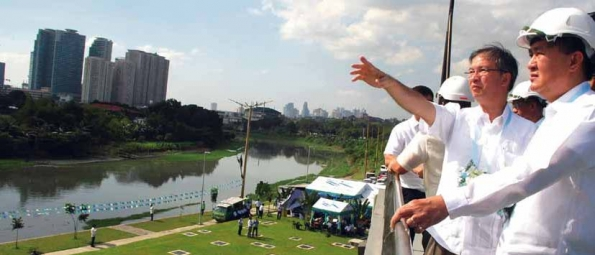 Inauguration of the Olandes Sewage Treatment Plant in Marikina